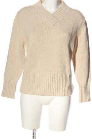 Olsen V-Ausschnitt-Pullover wollweiß Casual-Look