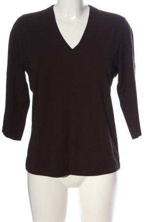 Olsen V-Ausschnitt-Shirt braun Casual-Look
