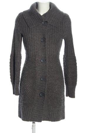 oltre Cappotto a maglia grigio chiaro Tessuto misto