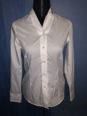 Olymp Bluse Hemd Basic langarm Baumwolle tailliert