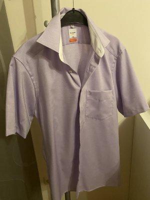 Olymp Camisa de manga corta rosa claro-lila tejido mezclado