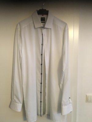 Olymp Shirt met lange mouwen wit
