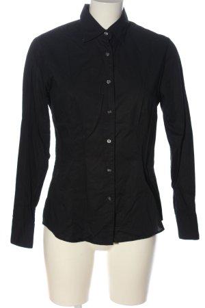 Olymp Camicia a maniche lunghe nero stile casual