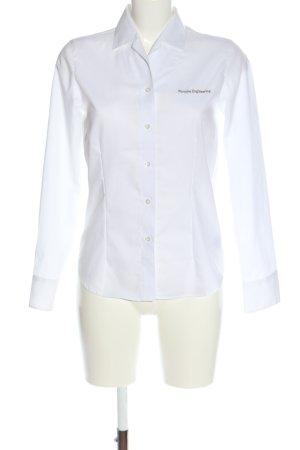 Olymp Camicia a maniche lunghe bianco-nero caratteri stampati