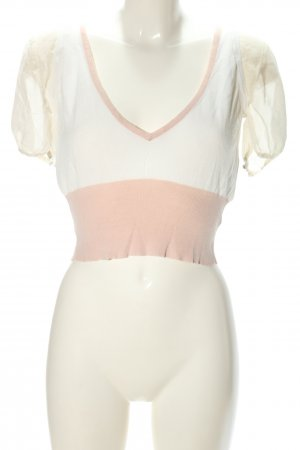 Olympia Cropped Shirt weiß-nude Casual-Look