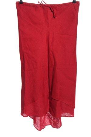 omai Jupe en lin rouge style décontracté