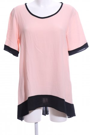 omai Long-Bluse pink-schwarz Casual-Look