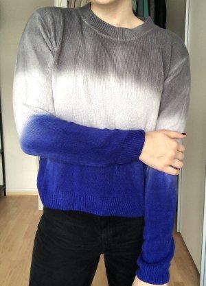 Ombré Pullover mit Farbverlauf