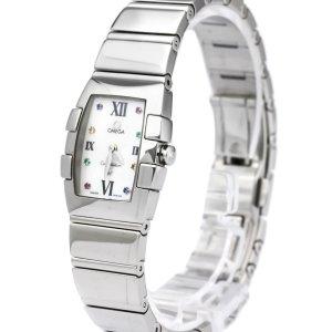 Omega Stainless Steel Constellation Mini Quadrella Quartz Watch 1584.79