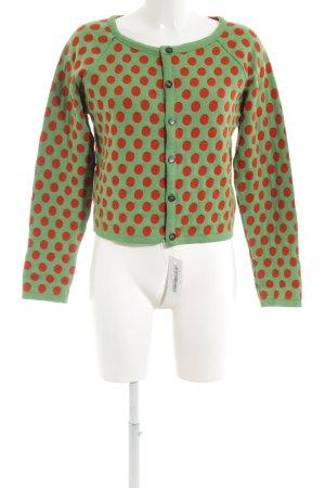 Omen Veste en laine vert-rouge motif de tache style décontracté