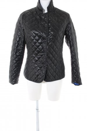 On Parle De Vous Reversible Jacket black quilting pattern casual look