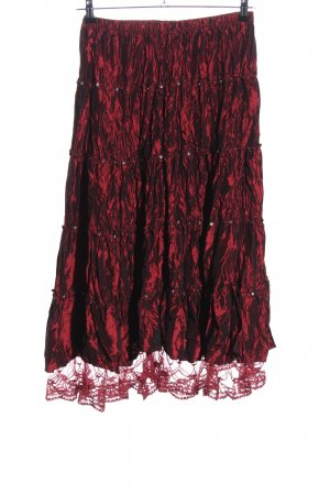 Onado Circle Skirt red-black elegant