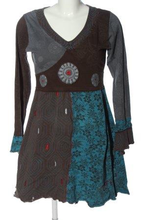 Onami Vestido de tela de sudadera estampado repetido sobre toda la superficie