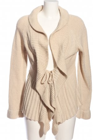 Once Cardigan creme Zopfmuster Casual-Look