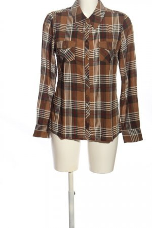 one Flannel Shirt brown-white allover print casual look
