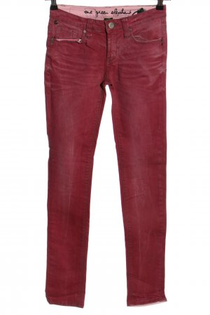 One green elephant Five-Pocket-Hose pink Casual-Look
