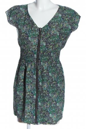 One green elephant Kurzarmkleid abstraktes Muster Casual-Look