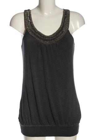 One green elephant Camisa larga negro-color plata elegante