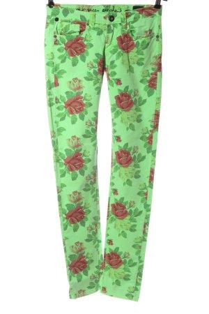 One green elephant Vaquero pitillo verde-rosa look casual