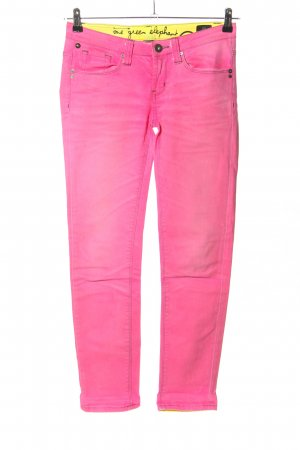 One green elephant Skinny Jeans pink Casual-Look