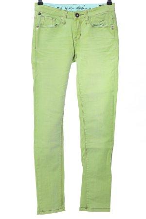 One green elephant Straight-Leg Jeans grün Casual-Look