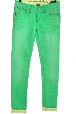 One green elephant Stretch Jeans grün Casual-Look