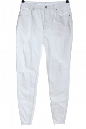 One love by colloseum High Waist Jeans white casual look