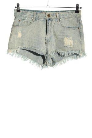 one love denim Shorts