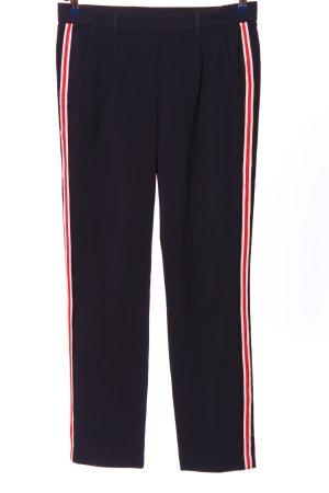 One More Story Pantalon «Baggy» bleu-rouge motif rayé style décontracté