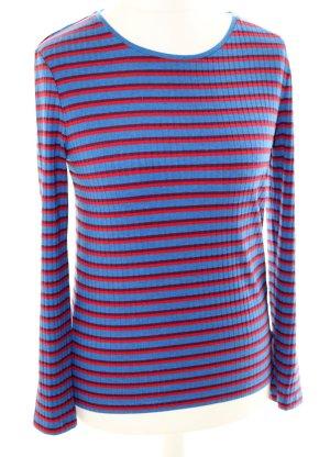 One More Story Gestreept shirt blauw-rood Viscose