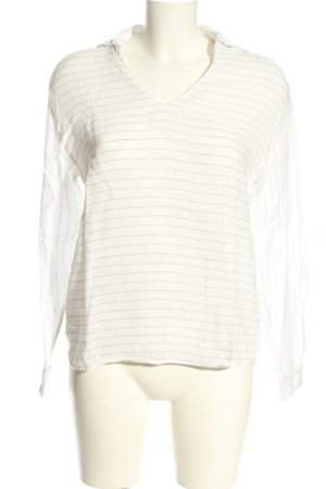 One More Story Linnen blouse wit gestreept patroon casual uitstraling