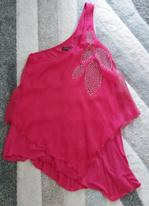 Lascana Haut avec une épaule dénudée rose