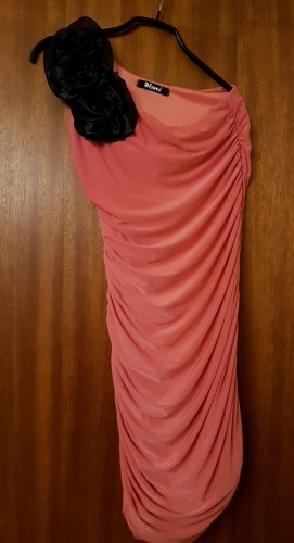 One Shoulder Dress salmon