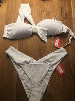 One Shoulder Bikini in weiß