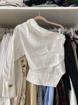 Zara Blusa senza maniche bianco-crema