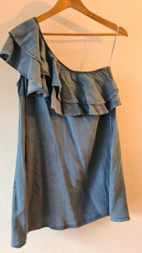 One-Shoulder Denim Kleid