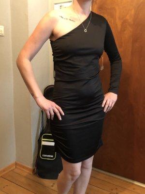Crazy World Sukienka na jedno ramię czarny