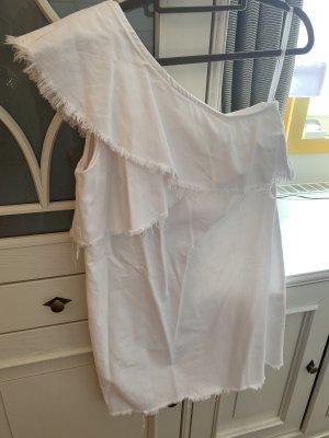 River Island Robe en jean blanc