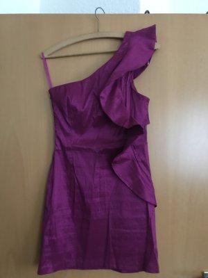 AX Paris Eénschouderjurk violet Polyester