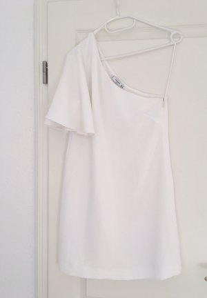 Mango Robe asymétrique blanc