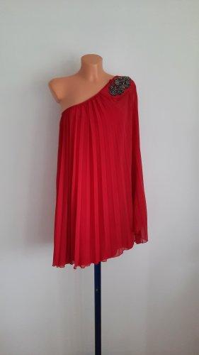 THREE LITTLE WORDS Robe asymétrique rouge brique