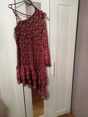 One Shoulder Dress brown red