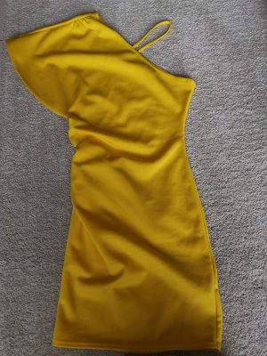 Asos Robe asymétrique jaune