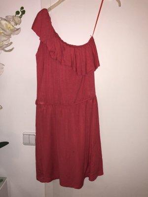 Robe asymétrique rose