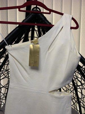 H&M Robe asymétrique blanc