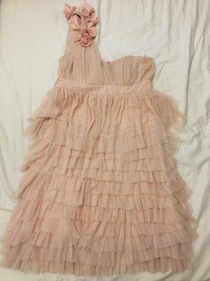 H&M Sukienka na jedno ramię różany