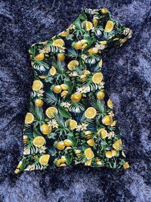 One Shoulder Kleid mit Zitronen