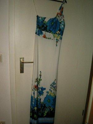 Best emilie Sukienka maxi niebieski neonowy-biały
