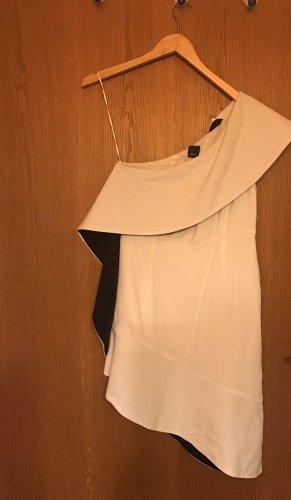 Pinko Robe asymétrique noir-blanc