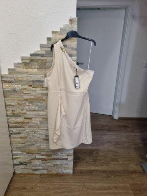 Comma Sukienka na jedno ramię kremowy-jasnobeżowy